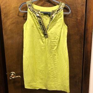 New York & Company Lime Green Dress